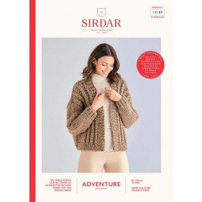 Cardigan in Sirdar Adventure Super Chunky  (10189)