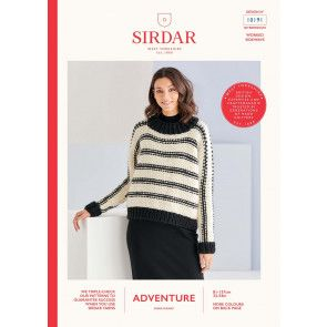 Sweater in Sirdar Adventure Super Chunky  (10191)