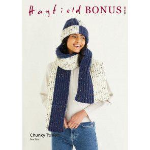 Hat and Scarf in Hayfield Bonus Chunky Tweed (10338)