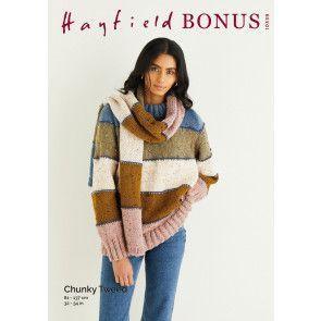 Sweater and Scarf in Hayfield Bonus Chunky Tweed (10339)