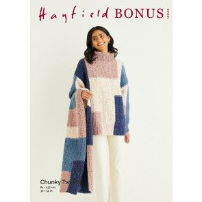 Sweater and Scarf in Hayfield Bonus Chunky Tweed (10340)
