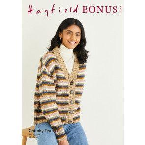 Cardigan in Hayfield Bonus Chunky Tweed (10342)