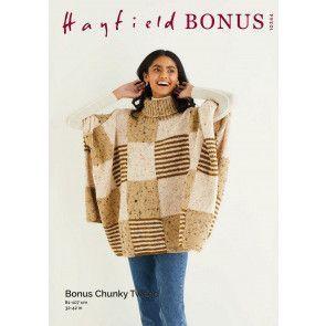 Poncho in Hayfield Bonus Chunky Tweed (10344)