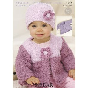 Cardigans and Hat in Sirdar Snuggly Snowflake Chunky (1772)