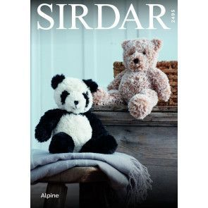 Panda and Teddy Bear in Sirdar Alpine (2945)