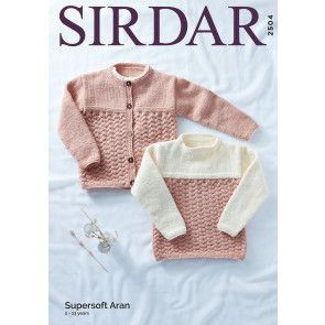 Sweater and Jacket in Sirdar Supersoft Aran (2504)