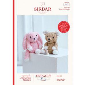 Teddy Bear and Bunny Toy in Sirdar Snuggly Bunny (2521)