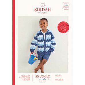 Jacket in Sirdar Snuggly 100% Cotton DK (2574)