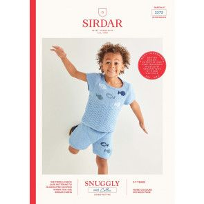 Top and Shorts in Sirdar Snuggly 100% Cotton DK (2575)