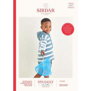 Hoodie in Sirdar Snuggly 100% Cotton DK (2577)
