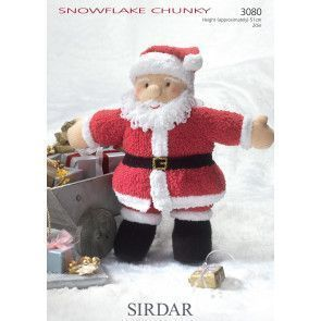 Father Christmas Toy in Sirdar Snuggly Snowflake Chunky (3080)