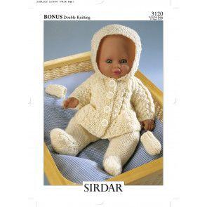 Doll's Outfit in Hayfield Baby Bonus DK (3120)