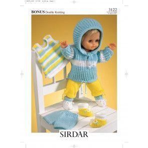 Doll's Outfit in Sirdar Bonus DK (3122)