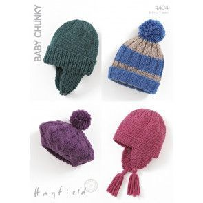 Hats in Hayfield Baby Chunky (4404)