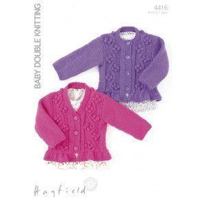 Cardigans in Hayfield Baby DK (4416)