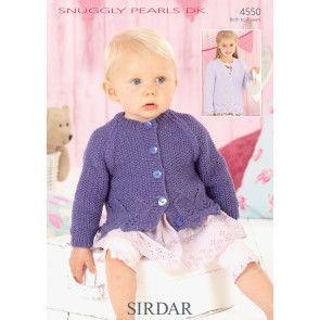 Cardigans in Sirdar Snuggly Pearls DK (4550)