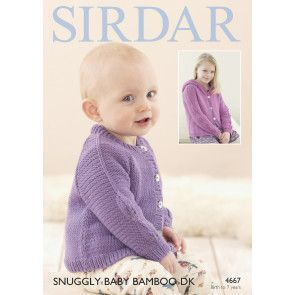 Cardigans in Sirdar Snuggly Baby Bamboo DK (4667)