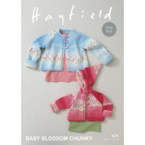 Coats in Hayfield Baby Blossom Chunky (4678)
