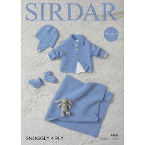 Jacket, Helmet, Bootees and Blanket in Sirdar 4 Ply (4686)