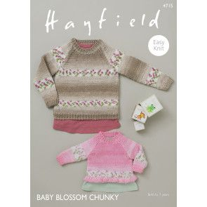 Sweaters in Hayfield Baby Blossom Chunky (4715)