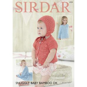 Cardigans, Bonnet and Blanket in Sirdar Snuggly Baby Bamboo DK (4729)