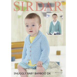 Cardigans in Sirdar Snuggly Baby Bamboo DK (4730)