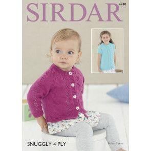 Cardigans in Sirdar Snuggly 4 Ply (4740)