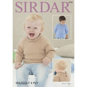 Sweater in Sirdar Snuggly 4 Ply (4742)