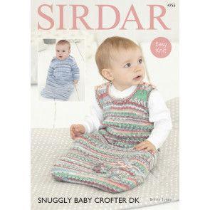 Sleeping Bags in Sirdar Snuggly Baby Crofter DK (4755)