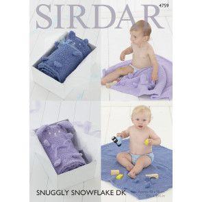 Blankets in Sirdar Snuggly Snowflake DK (4759)
