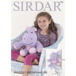 Hippopotamus in Sirdar Snuggly Snowflake DK (4761)