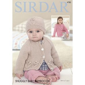 Cardigan and Hat in Sirdar Snuggly Baby Bamboo DK (4785)