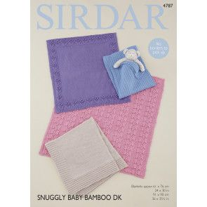 Blankets in Sirdar Snuggly Baby Bamboo DK (4787)