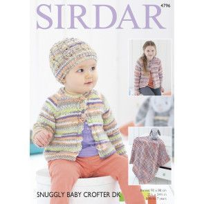 Cardigan, Hat and Blanket in Sirdar Snuggly Baby Crofter DK (4796)