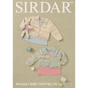 Girl's Cardigans in Sirdar Snuggly Baby Crofter 4 Ply (4820)