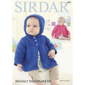 Jackets in Sirdar Snuggly Snowflake DK (4822)