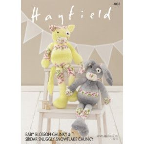 Rabbit and Cat in Hayfield Baby Blossom Chunky and Sirdar Snuggly Snowflake Chunky (4833)