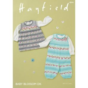 Dungarees and Pinafore in Hayfield Baby Blossom DK (4844)