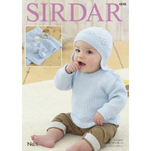 Sweater, Helmet, Bootees and Blanket (4848)
