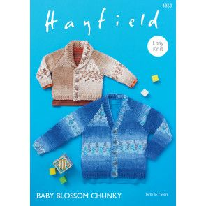 Cardigans in Hayfield Baby Blossom Chunky (4863)
