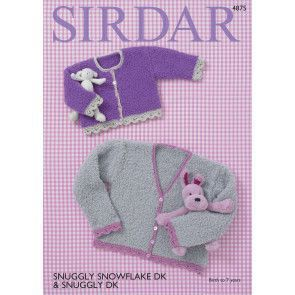 Cardigans in Sirdar Snuggly Snowflake DK and Snuggly DK (4875)