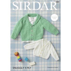Cardigans in Sirdar Snuggly 4 Ply (4884)