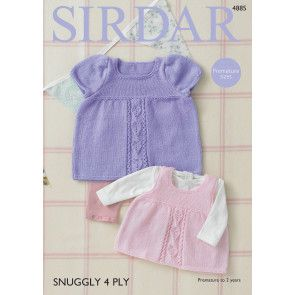 Dress and Pinafore in Sirdar Snuggly 4 Ply (4885)