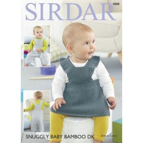Pinafore Dress and Dungarees in Sirdar Baby Bamboo DK (4888)