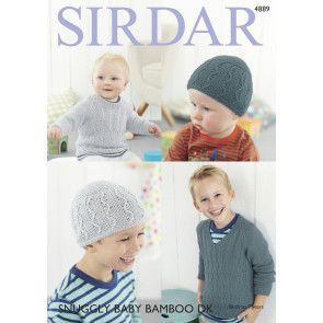 Sweaters and Hat in Sirdar Snuggly Baby Bamboo DK (4889)
