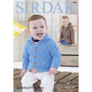 Cardigans in Sirdar Supersoft Aran (4900)