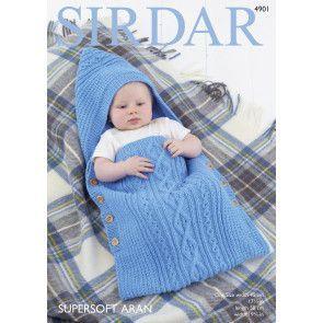 Baby's Sleeping Bag in Sirdar Supersoft Aran (4901)