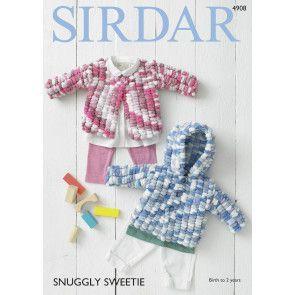 Cardigans in Sirdar Snuggly Sweetie (4908)