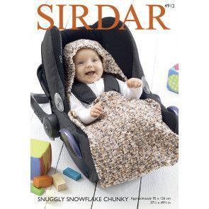 Car Seat Blanket in Sirdar Snuggly Snowflake Chunky (4912)
