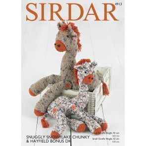 Giraffe Toys in Sirdar Snowflake Chunky and Hayfield Bonus DK (4913)